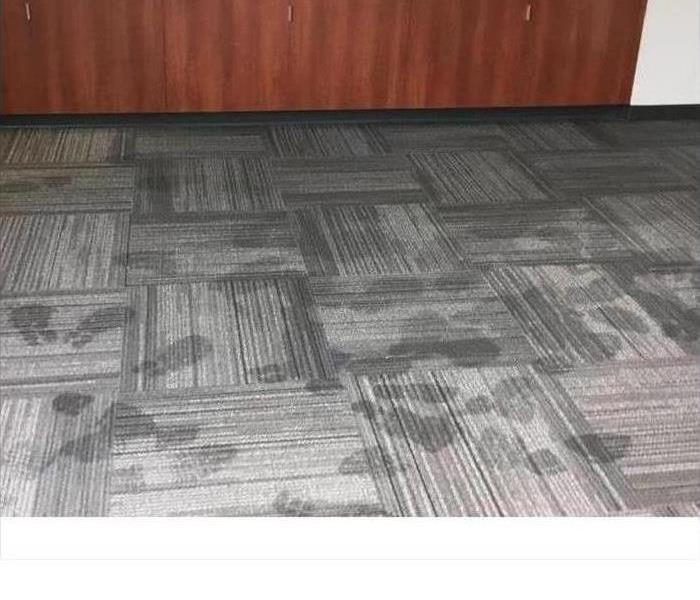 Water Damage in Commercial Conference Room Before