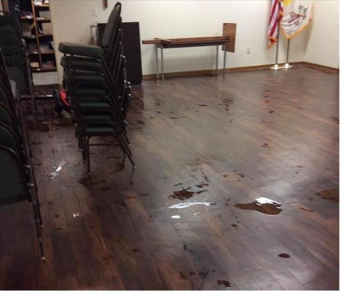Water Damage at Local Church Before
